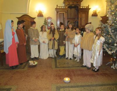 A Nagyboldogasszony Katolikus Általános iskolások műsora