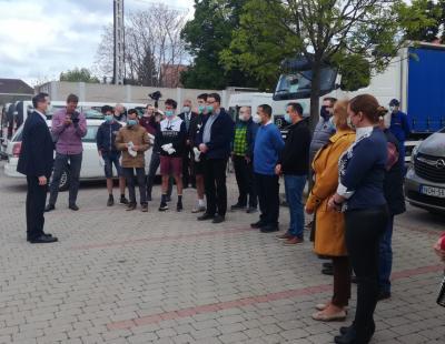 Varga Mihály miniszter úr adománya