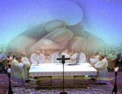 Szentmisén megvalósuló csoda, az oltáriszentség jelenléte