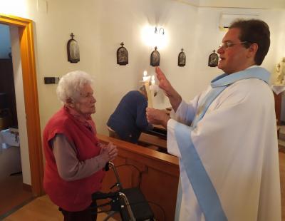 Balázs áldás Domokos nénivel