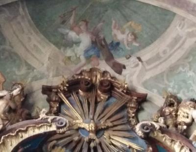 Templomi freskó részlet