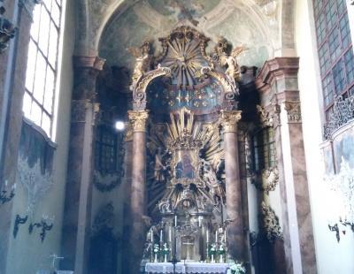 Templom oltára - részlet