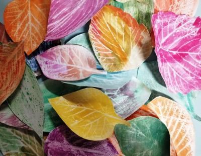 Az elkészült színes levelek